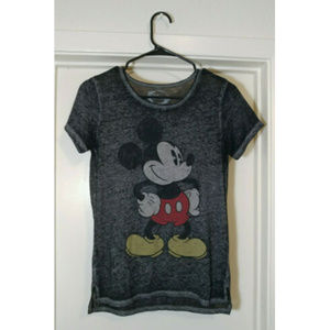 Disney Mickey Mouse Soft Burned Out T Shirt